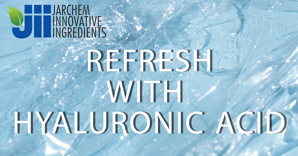 Refresh with Hyaluronic Acid website header